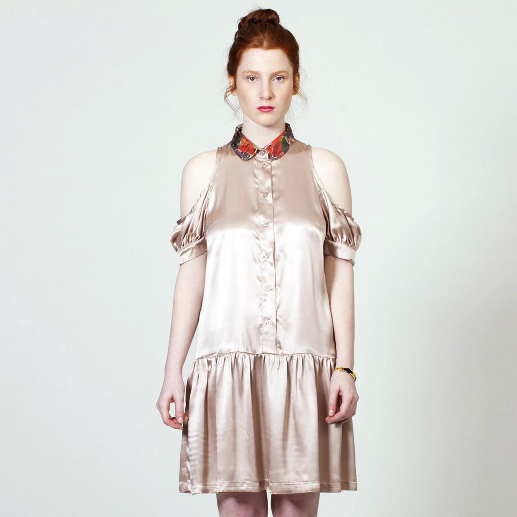 The Baby Jane Dress - Powder Silk