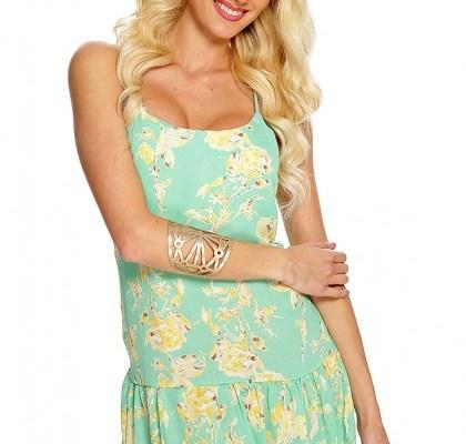 Mint Floral Summer Dress