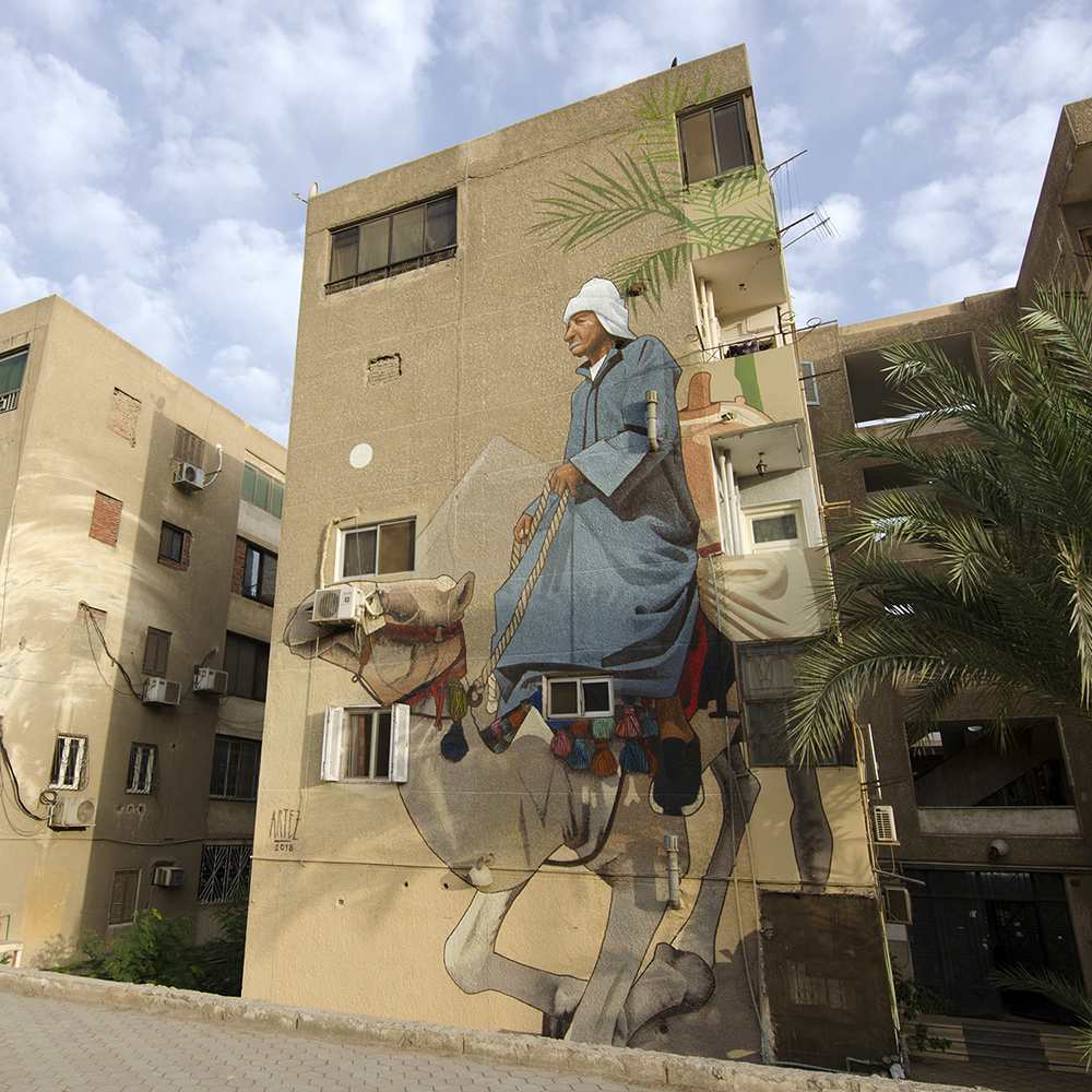 Artez Artez New Mural Sand Stories In Cairo Streetartist