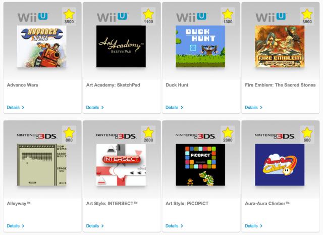 eShop-Spiele im Club Nintendo