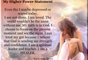 my higher power statment