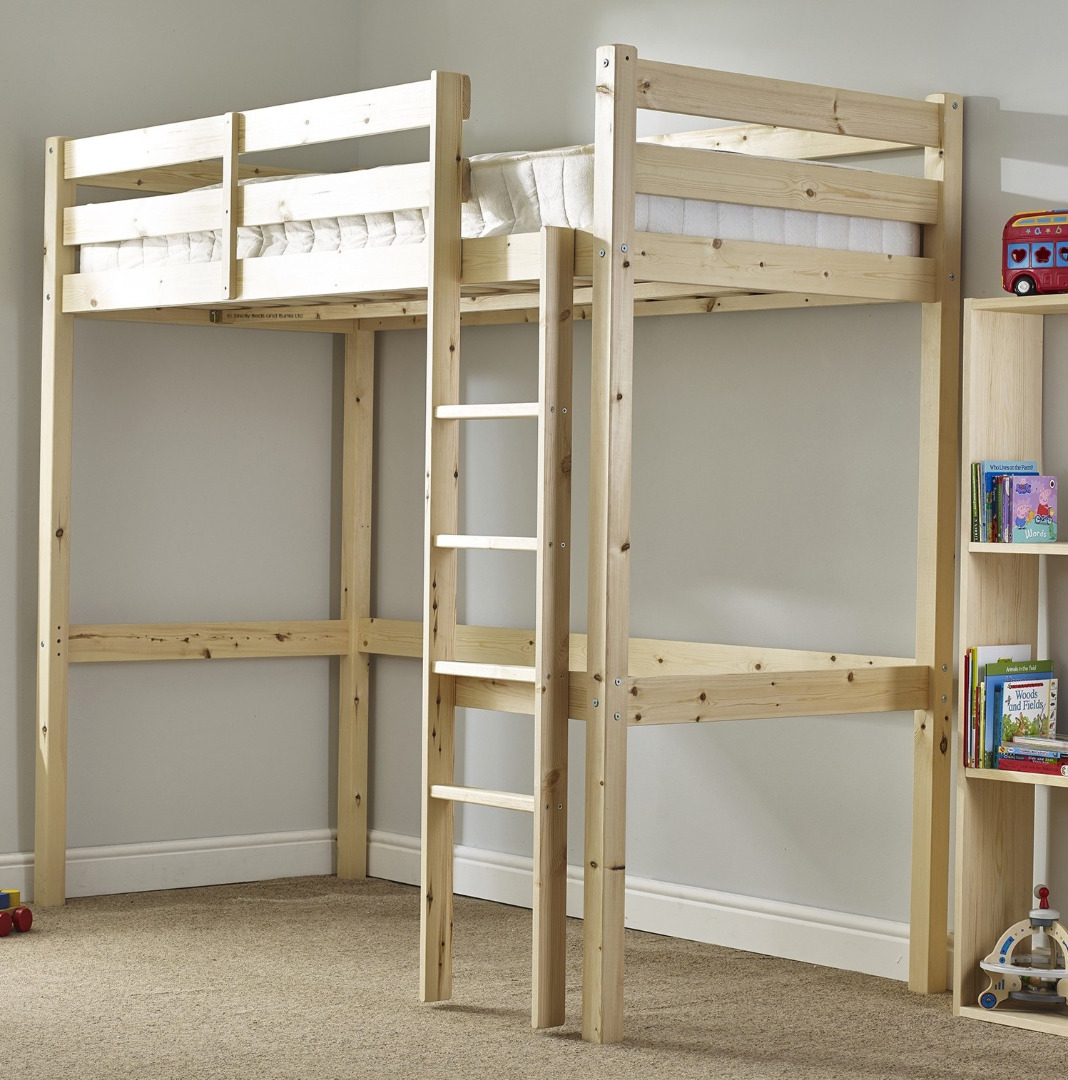 What Is The Length Of A Single Bed Icarus 3ft Single Short Length Solid Pine High Sleeper Bunk Bed