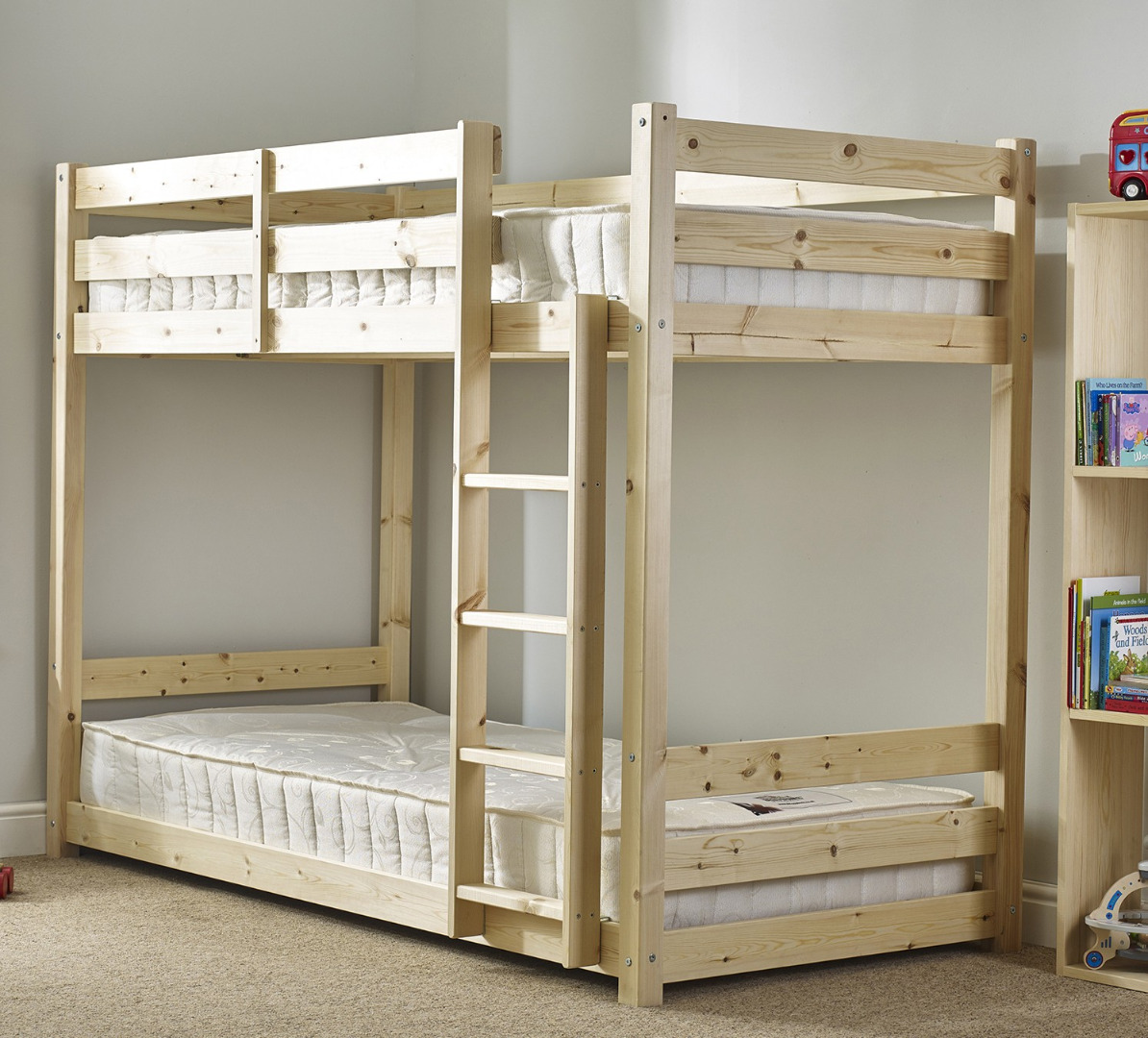 Length Of A Double Bed Pluto 3ft Single Short Length Solid Pine Bunk Bed