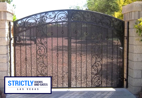 Courtyard Gates Las Vegas Ornamental Forged Gates Company | Strictly Doors