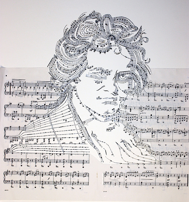 Sheet Music Collages by Erika Iris Simmons strictlypaper