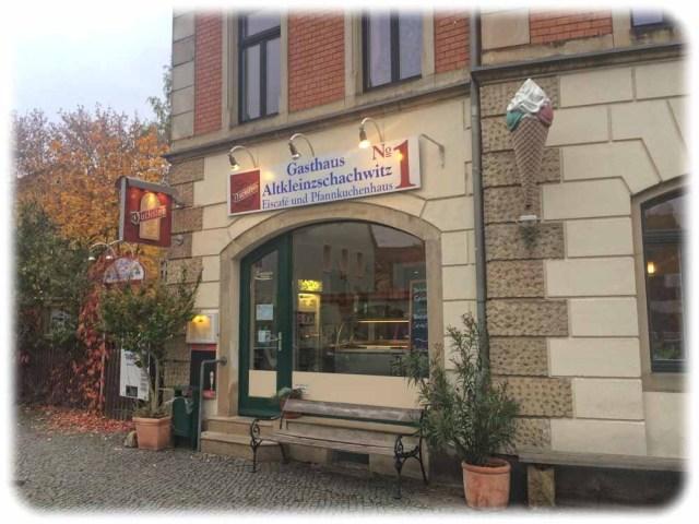 Das Pfannkuchenhaus ist etwas versteckt und zu finden, wenn man der Bahnhofsstraße und dann der Putjatinstraße in Niedersedlitz folgt. Foto: Heiko Weckbrodt