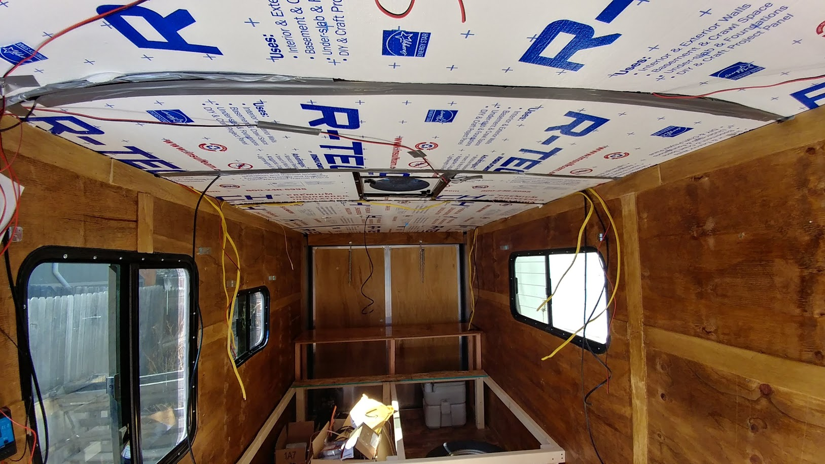 Encouraging Place It Hit Me About Summer Heat Reasons I Wanted A Trailer As Y Tendto Stay Wiring Roofmetal Getting One After I Got Everything Ceiling Foam Insulation Cargo Trailer Camper Conversion curbed Cargo Trailer Camper Conversion