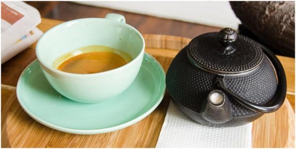 Fresh chai coffee @ Pollen Tea Room