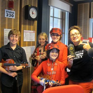 Pumpkin Juice with Jill Emberson at ABC Newcastle Radio Station 2014