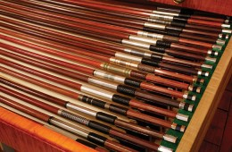 Drawer full of Violin Bows