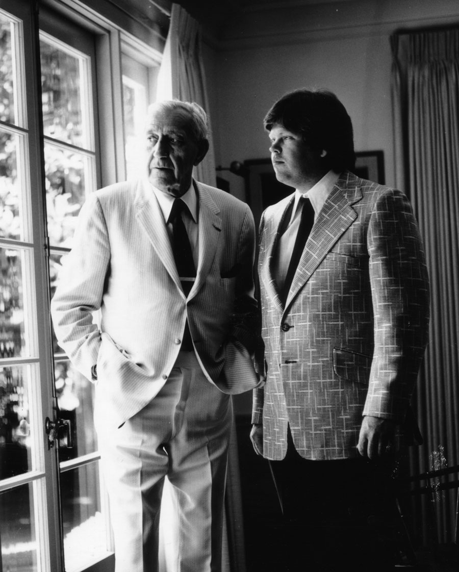 Terry King (right) with Piatigorsky (left) at his home in 1975.