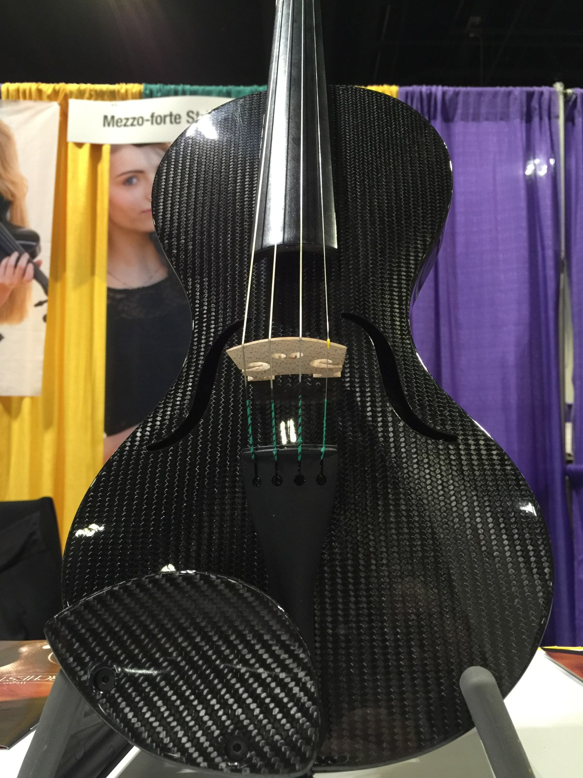 Mezzo-forte showed off some of its carbon-fiber instruments.
