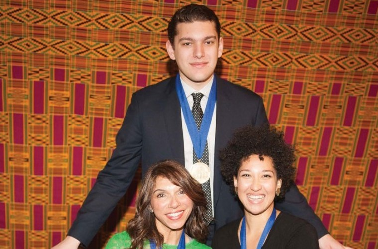 2016 Sphinx Medals of Excellence awardees: Gabriel Cabezas, standing, Laura Downes, seated left, and Julia Bullock, seated right.