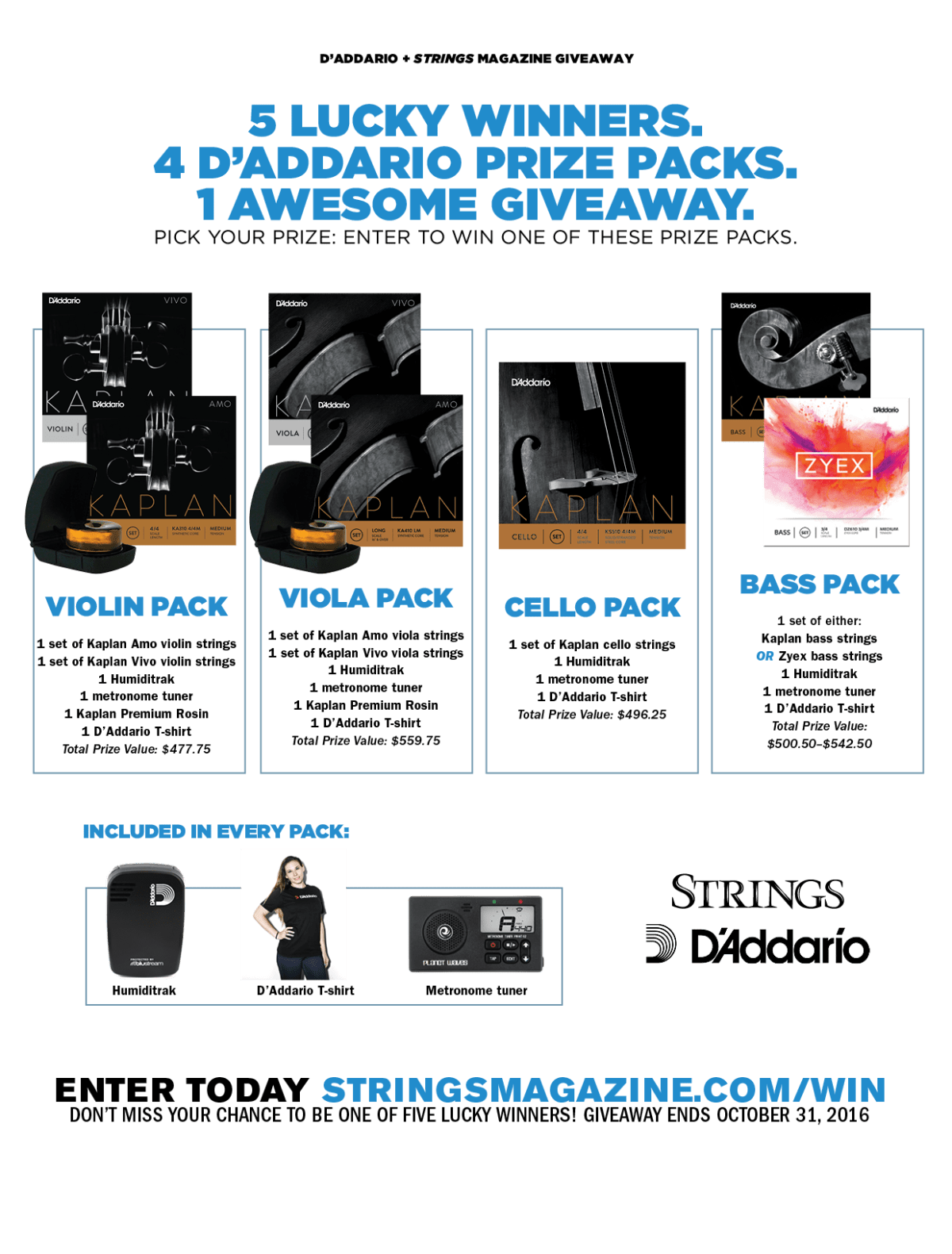 D'Addario Strings Giveaway