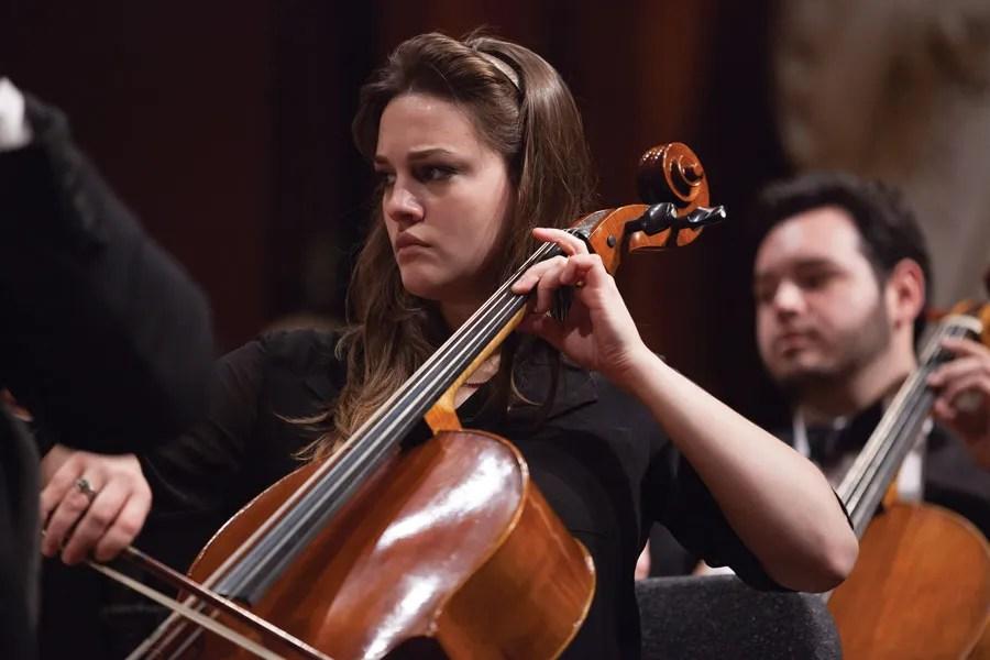 Cellist Elisa Rodriguez Sadaba