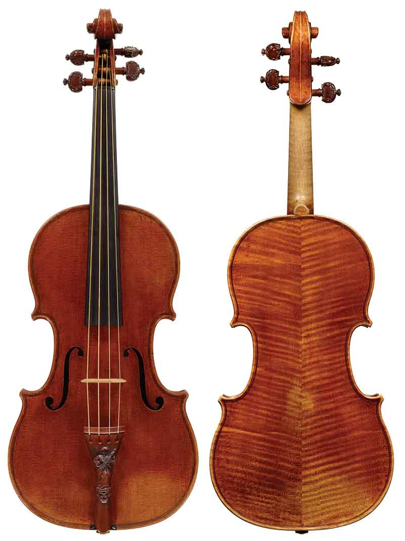 1721 'Lady Blunt' Stradivari violin. Courtesy of Tarisio