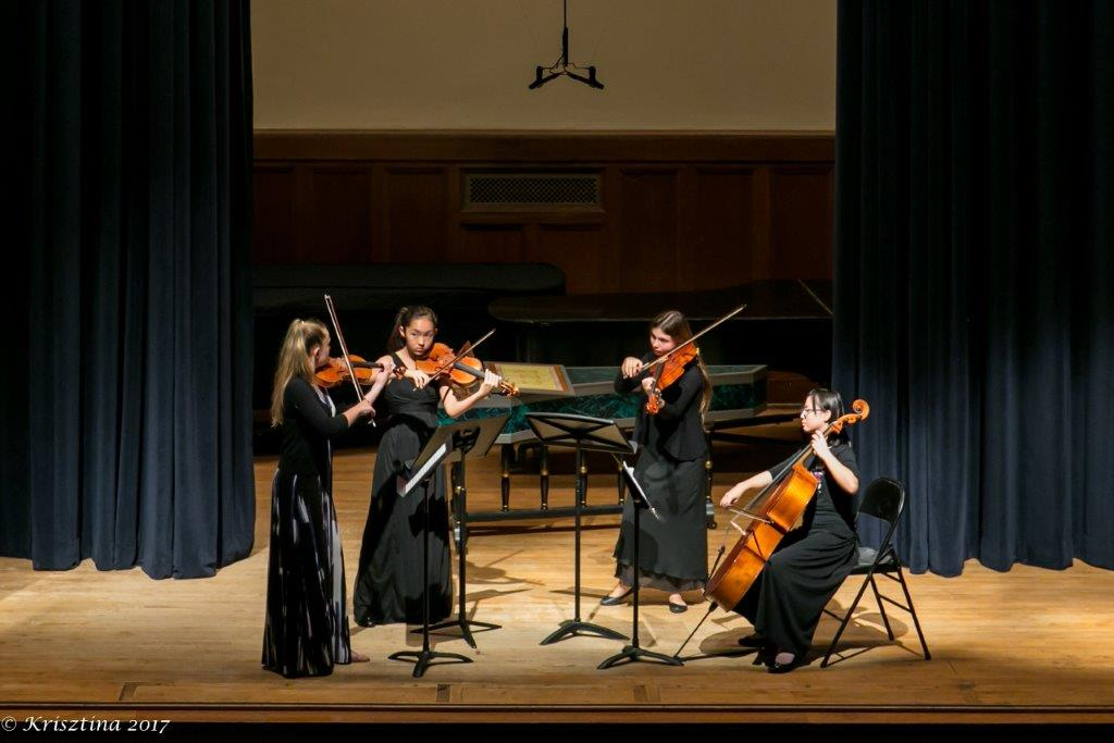 Web_Student quartet in performance