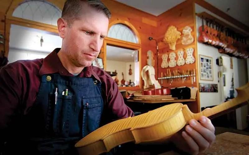 Luthier Eric Benning of Benning Violins, est. 1953 in Los Angeles
