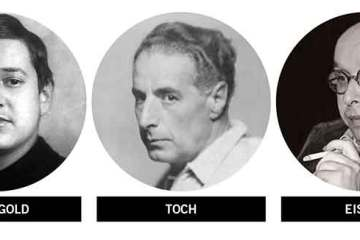 Golden age film score composers Erich Korngold (1897–1957), Ernst Toch (1887–1964), Hanns Eisler (1898–1962)