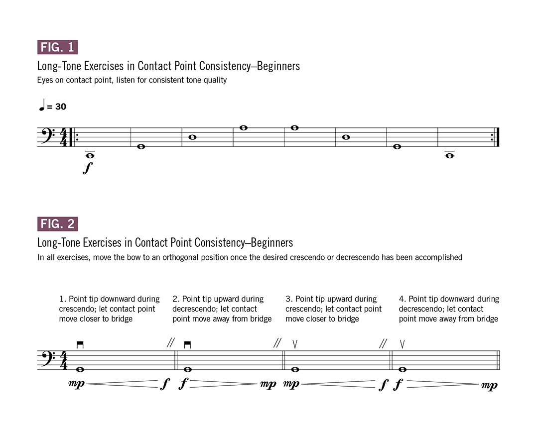Practice your long-tone exercises in contact point consistency