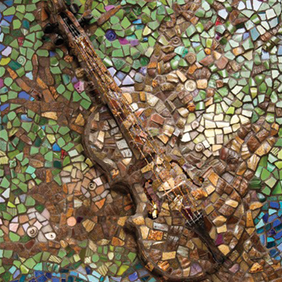 Fiddler Alasdair Fraser's beloved mosaic by artist Jenni McGuire