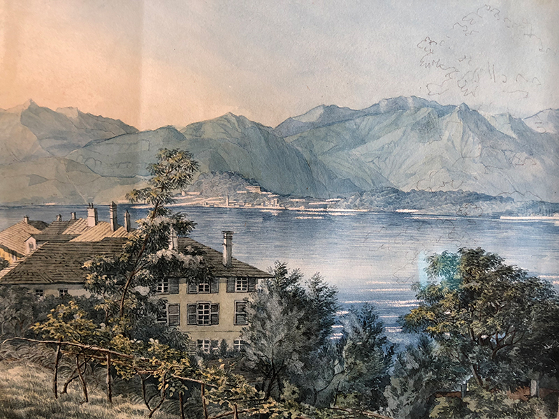 Anne Akiko Meyers' painting of Lake Como by composer Felix Mendelssohn