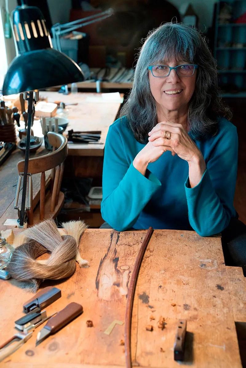 Bow maker Lynn Hannings