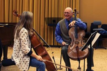 Steven Doane at a European String Teachers' Association master class