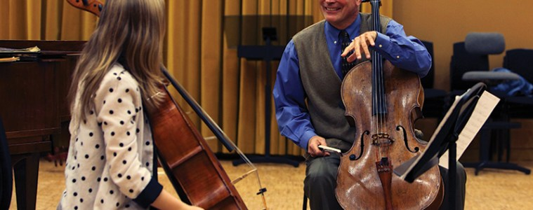 Steven Doane at a European String Teachers' Association master class