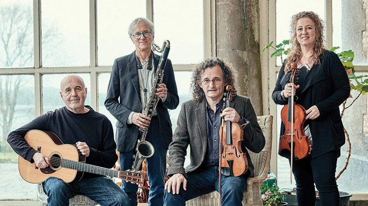 Martin Hayes Quartet records album Blue Room at Bantry House in County Cork