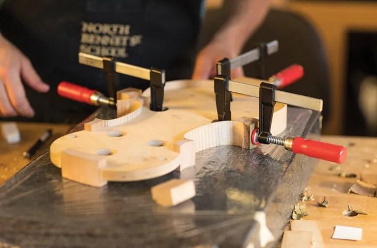 Luthier Julia Felix studied at North Bennet Street School