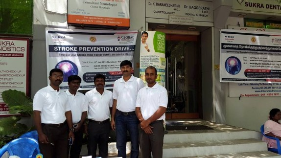 Stroke Prevention Drive, Chennai - 12th July 2015