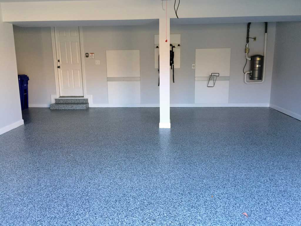Garage Floor Epoxy Steps Arlington Va Garage Enhanced By Epoxy Coating