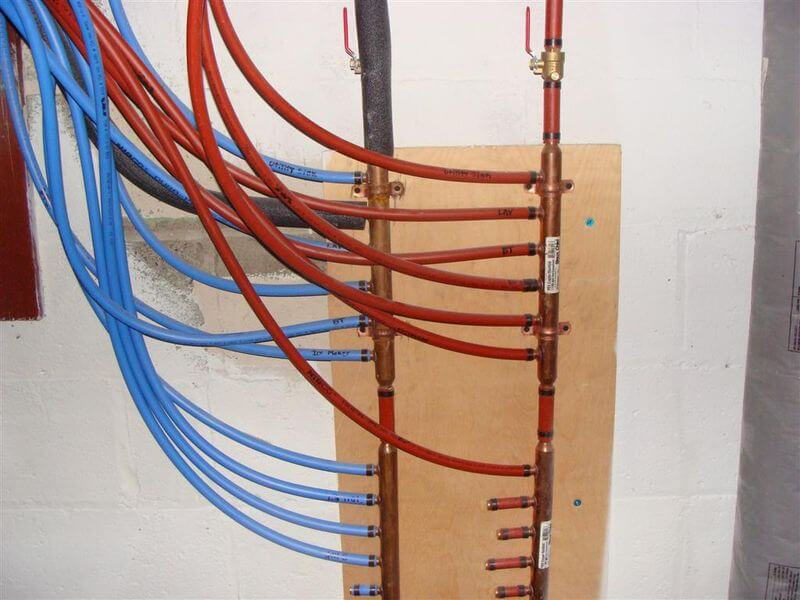 pex sliced bread structure tech home inspections alfa img showing home run plumbing design