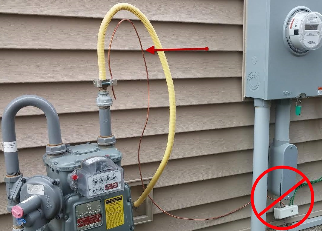 Running Gas Line To Fireplace Csst Bonding Requirements Another Update Structure Tech Home