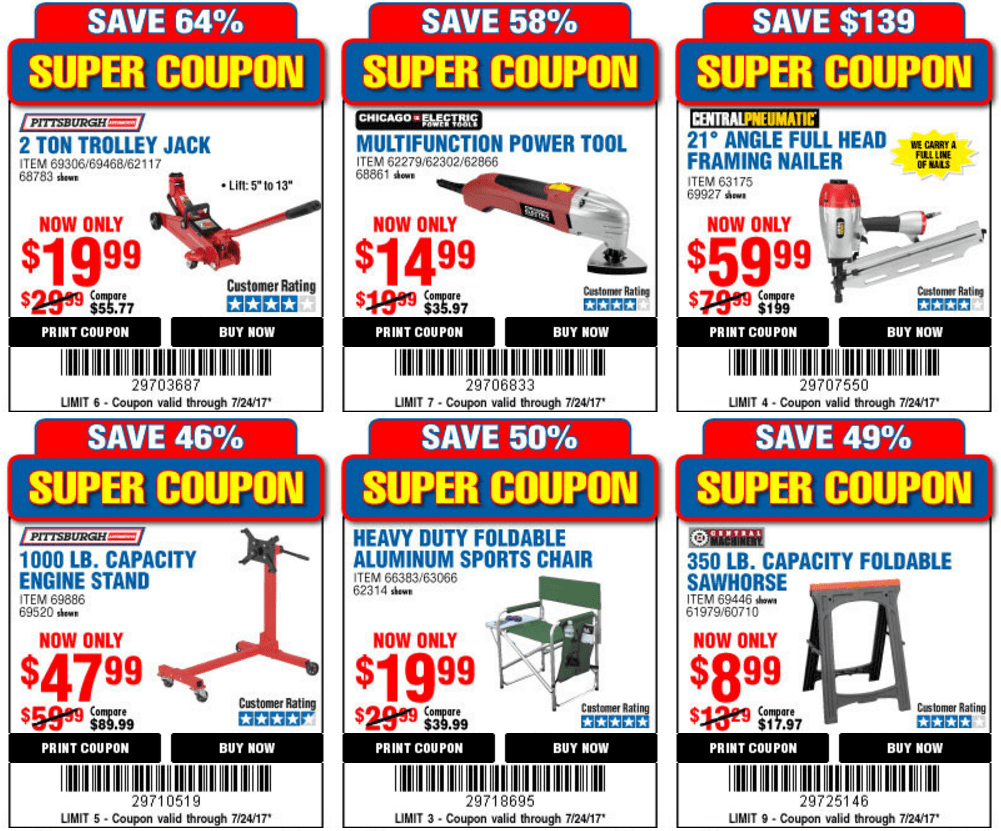 It is an image of Sweet Harbor Freight Super Coupon Printable