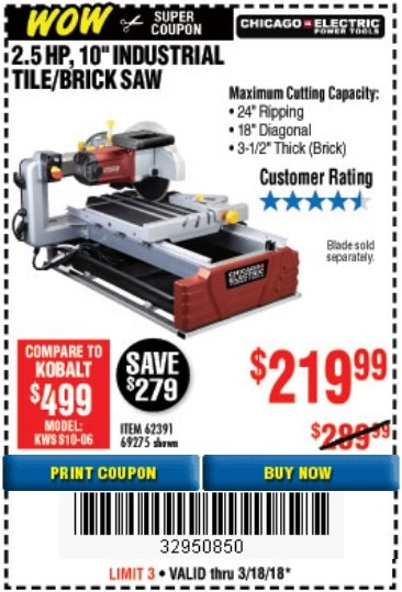 Harbor freight new mega wows coupons w price tracking expires 3 62391 69275 fandeluxe Gallery
