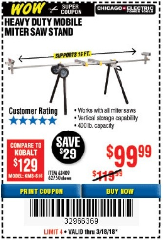 Harbor freight new mega wows coupons w price tracking expires 3 63409 62750 fandeluxe Gallery