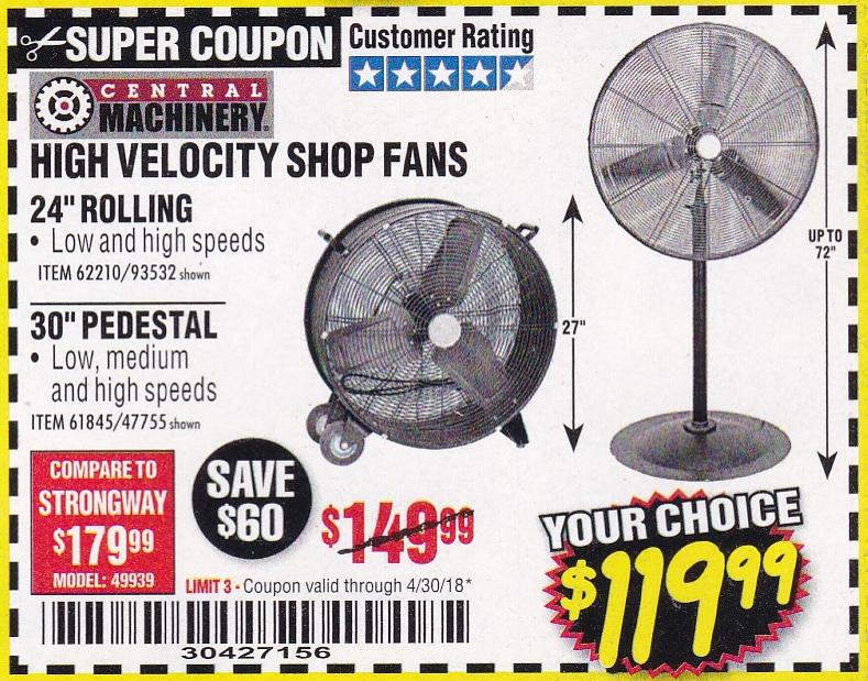 Fleet Farm Coupons >> High Velocity Shop Fans Rolling & Pedestal – Expires 4/30 ...