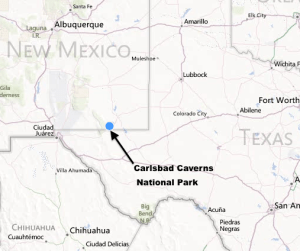 Map of Carlsbad Caverns