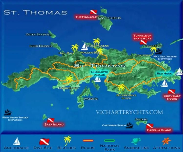St thomas dive sites st thomas scuba diving - Padi dive sites ...