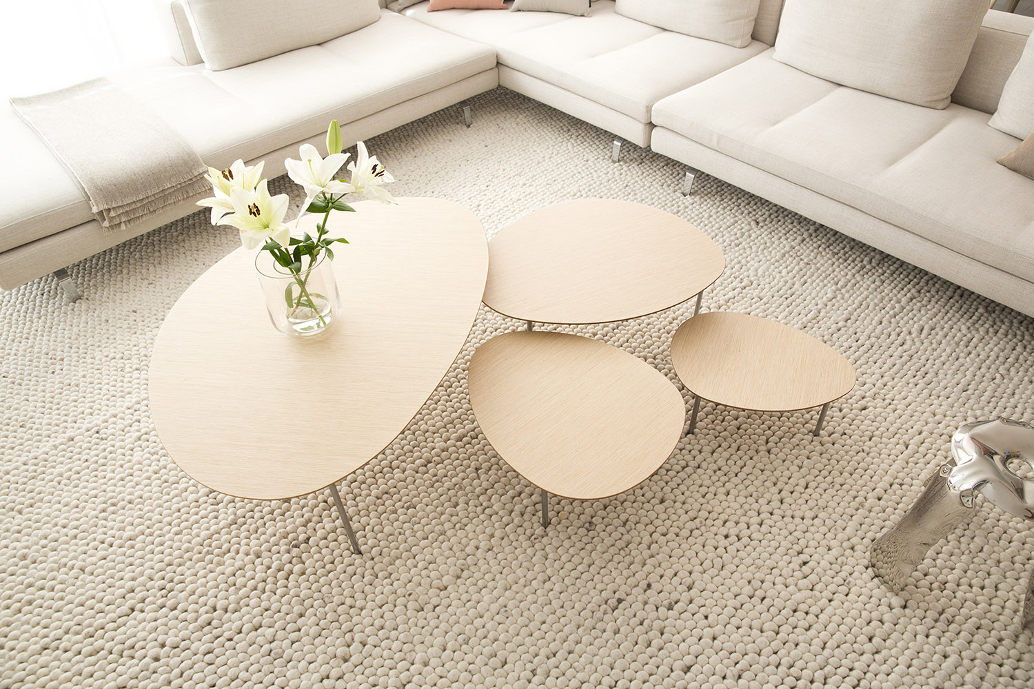 Classic Table Shapes Stua Eclipse Nesting Tables With Organic Shapes