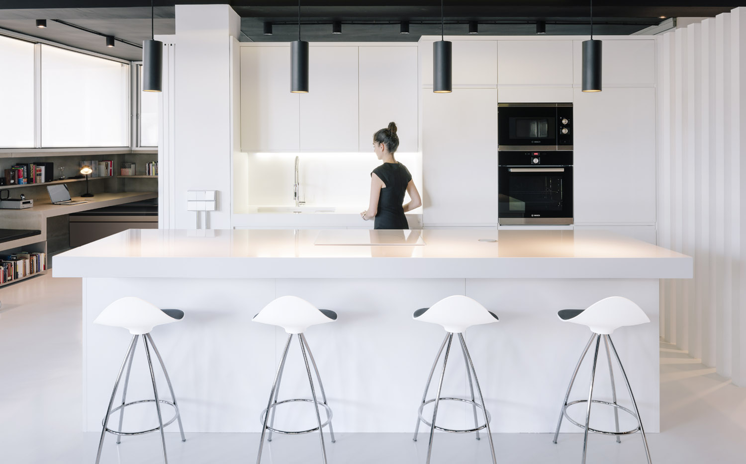 Kitchen Counter And Stools Stool With Ergonomics By Stua