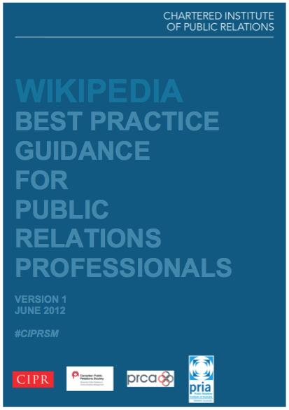 CIPR Wikipedia Guidance