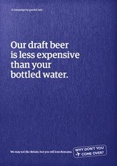 Our draft beer is less expensive than your bottled water