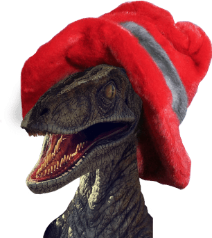 Raptor in a hat