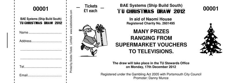 Raffle Tickets · Raffle Ticket Printing UK · Stubbs Tickets