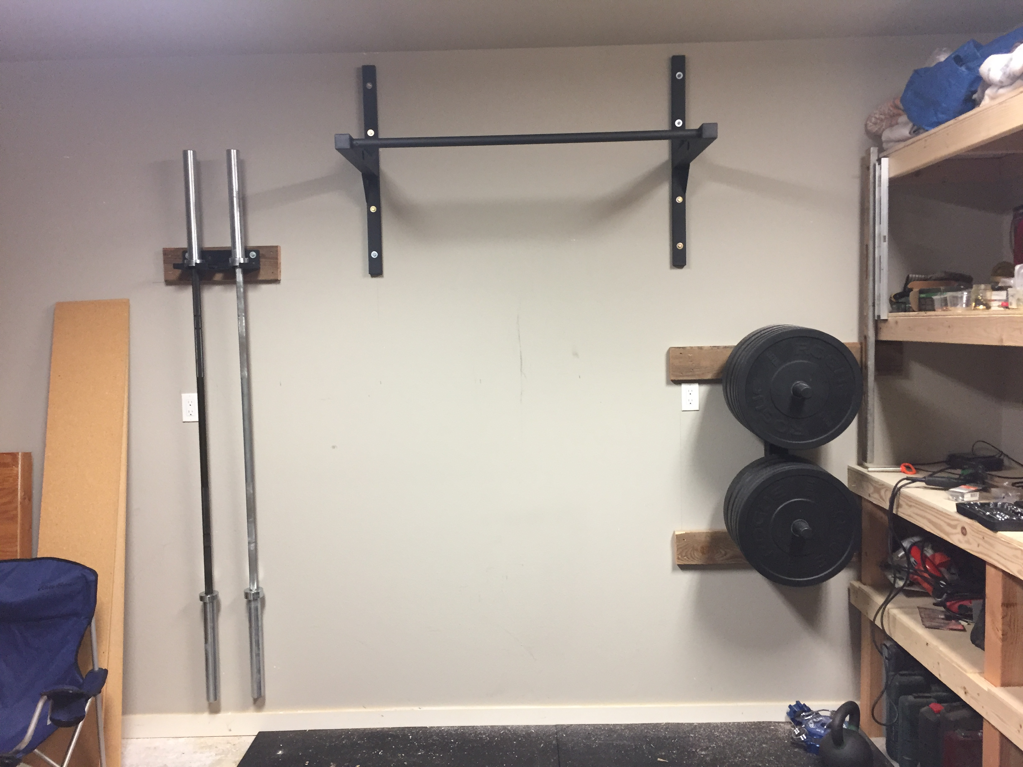 Diy Garage Gym Equipment Diy Garage Gym Pull Up Bar Stud Bar Ceiling Or Wall