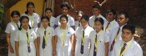 Gold medal winners of Sri Lankan Biology Olympiad 2008