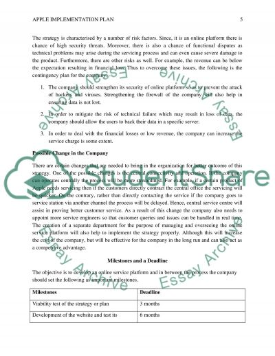 Strategy implementation of apple Essay Academic Writing Service